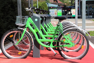 A bicycle-sharing system