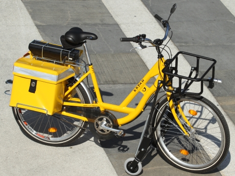 Practical, reliable, customizable. The delivery bike of future.